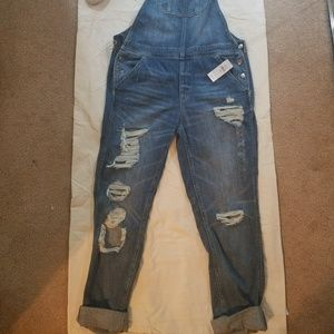 American Eagle Jeans - Distressed overalls, sz M